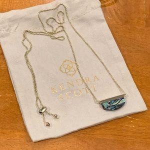 Kendra Scott abalone Dean pendant necklace